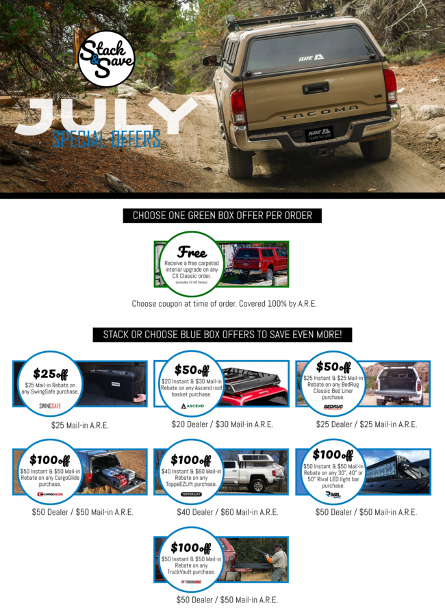 ARE JULY SPECIAL OFFERS