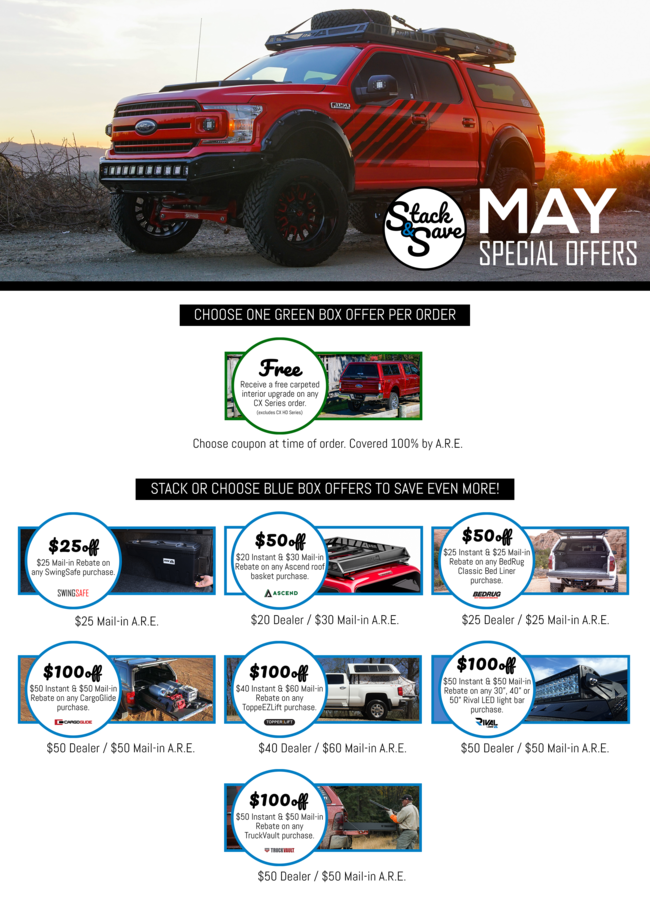 ARE MAY OFFERS