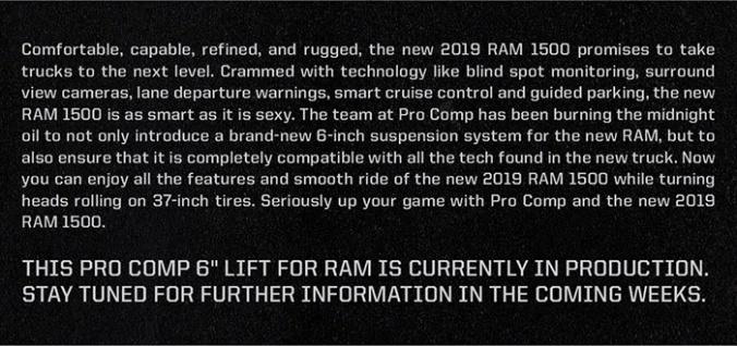 PRO COMP RAM LIFT KIT 1