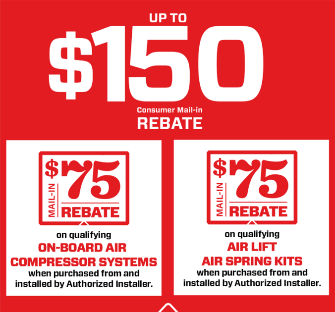 AIR LIFT REBATE